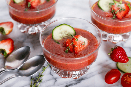 Spanish Strawberry Gazpacho | All that's Jas