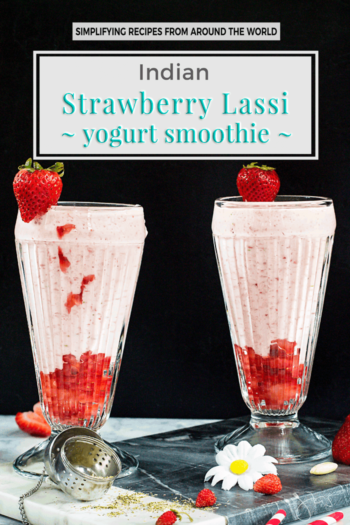 Indian strawberry lassi yogurt smoothie easy and delicious indian strawberry lassi yogurt smoothie you will love this popular traditional indian beverage it is ccuart Image collections