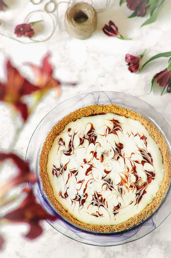 Salted caramel and guava Brazilian pie