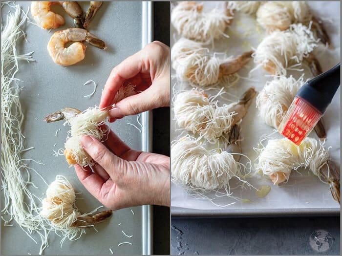 How to make kadaif shrimp.