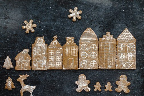 Snow Globe German Gingerbread Cookie Village | All that's Jas