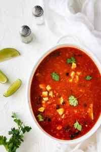 Mexican Quick and Easy Homemade Chicken Tortilla Soup | allthatsjas.com