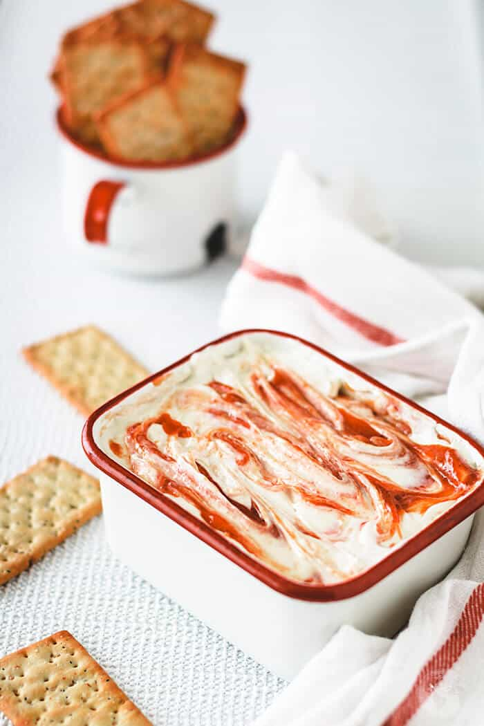 This sweet and savory guava dip is Puerto Rican favorite appetizer and you will love its unique flavor consisting of guava, cream cheese, honey and garlic!