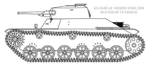 Схема легкого танка «ТИП-2» «КЕ-ТО»