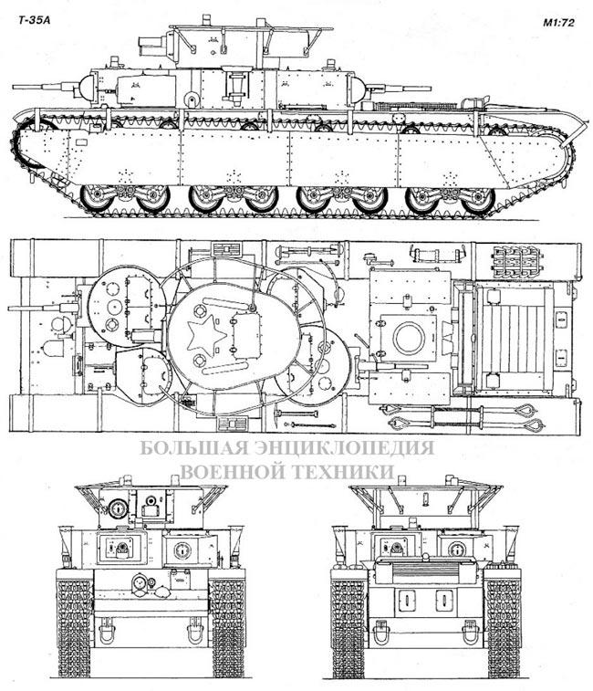 Общий вид танка Т-35