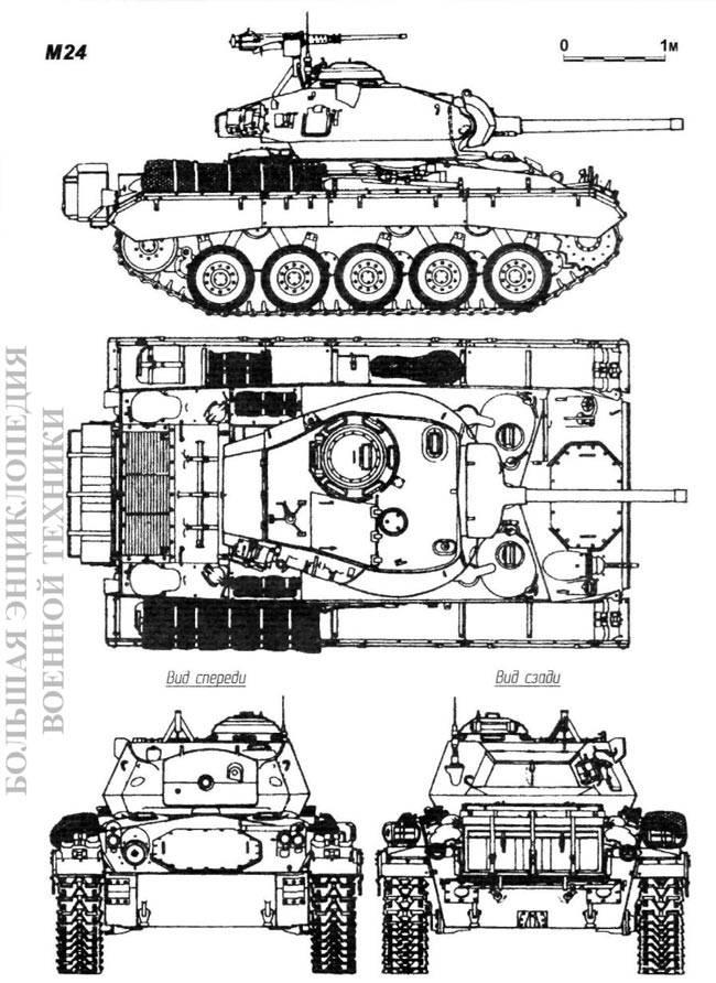 Общий вид танка M24 General Chaffee