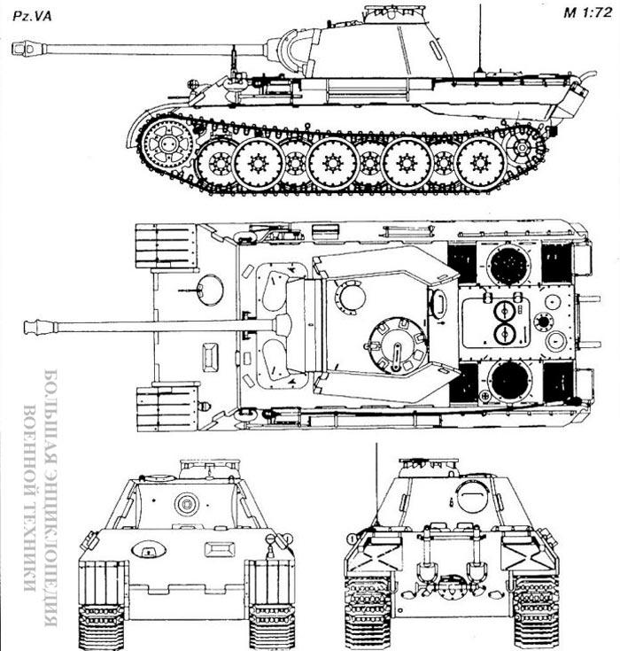 Танк Panzer VA «Panther» (Sd.Kfz.171)