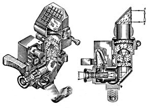 Конструкция ночного прибора ТКН-1 и его оптическая схема