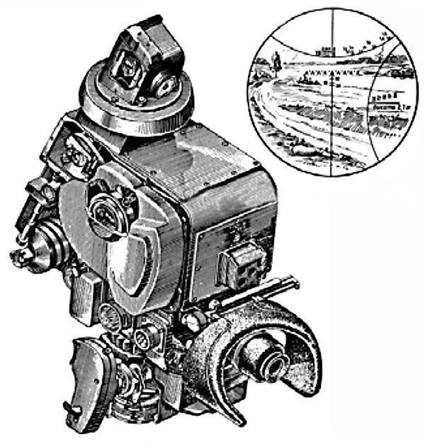 Перископический прицел ТПС1 танка Т-10А (Т-10Б)