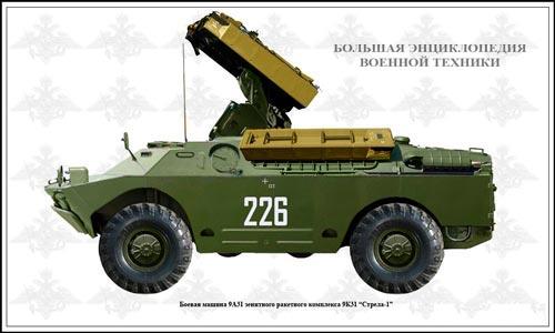Боевая машина 9А31 зенитного-ракетного комплекса 9К31 «СТРЕЛА-1» - вид сбоку
