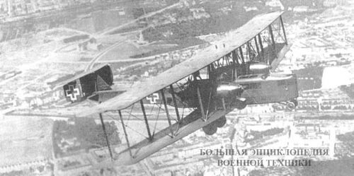 Немецкий бомбардировщик Zeppelin-Staaken R. VI
