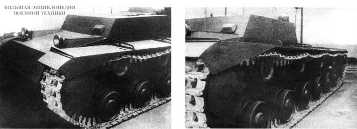 Деревянный макет 35-тонного тягача на базе КВ. Кировский завод, февраль 1940 года