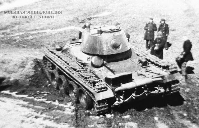 Колесно-гусеничный танк Т-25 на испытаниях