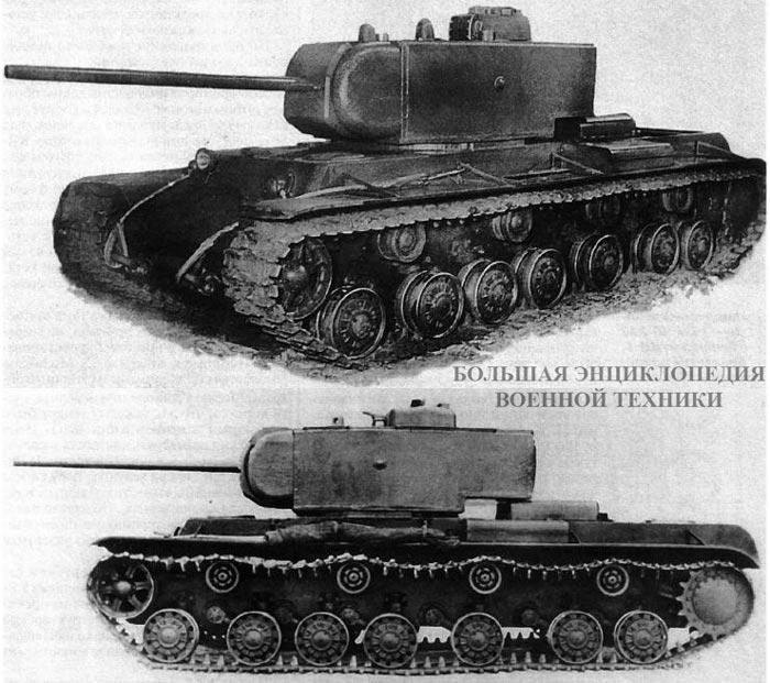 Танк КВ-220 перед началом испытаний. Ленинград, февраль 1941 года. Над сетками воздухозаборников установлены специальные броневые кожухи.