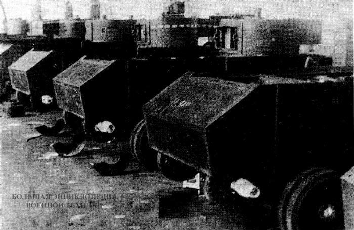 Сборка танков БТ-ИС на базе БТ-5 на заводе №48. 1936 год