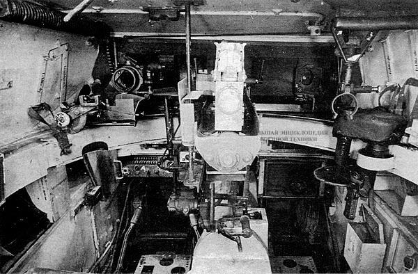 Интерьер боевого отделения танка Luchs