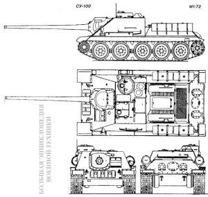 Чертеж СУ-100