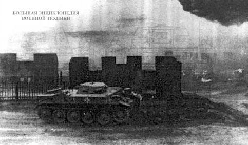 Огнемётный танк Flammpanzer II в бою