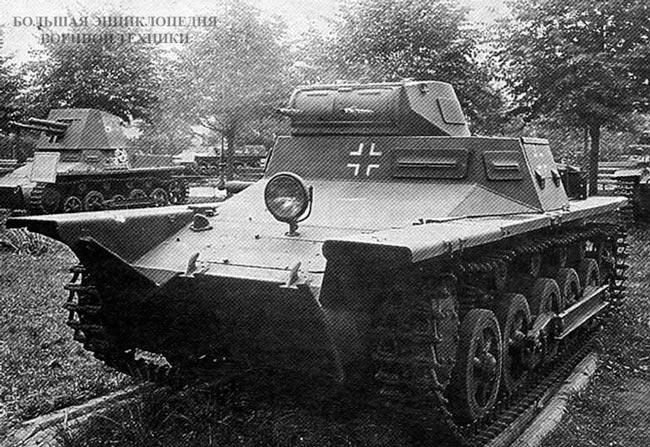 Плавающий вариант тапка Pz.l Ausf.B