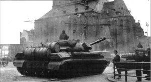 Танки Т-10М в Чехословакии