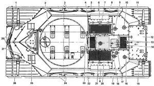 Танк-Т-10М-сверху