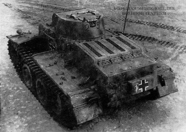 Танк Pz.Kpfw.l Ausf.C - вид сзади