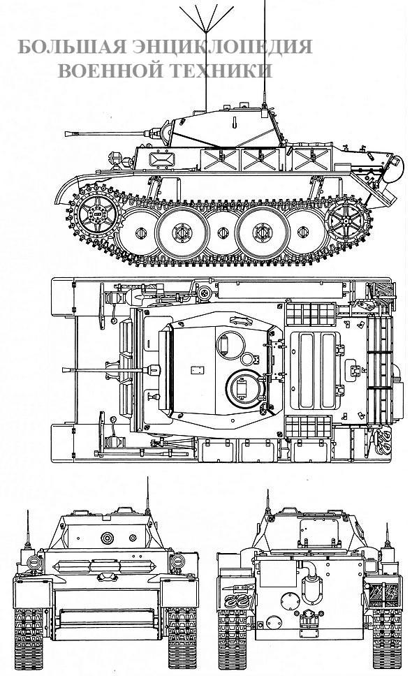 Чертеж танка Pz.II Ausf.L