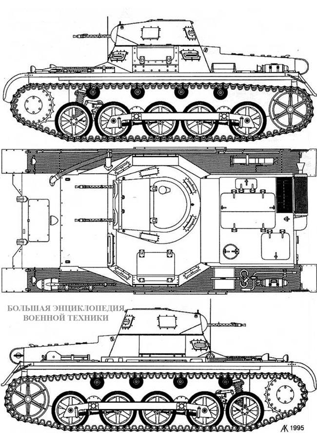 Чертеж танка Pz.l Ausf.B