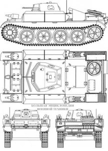 Чертеж танка Flammpanzer II