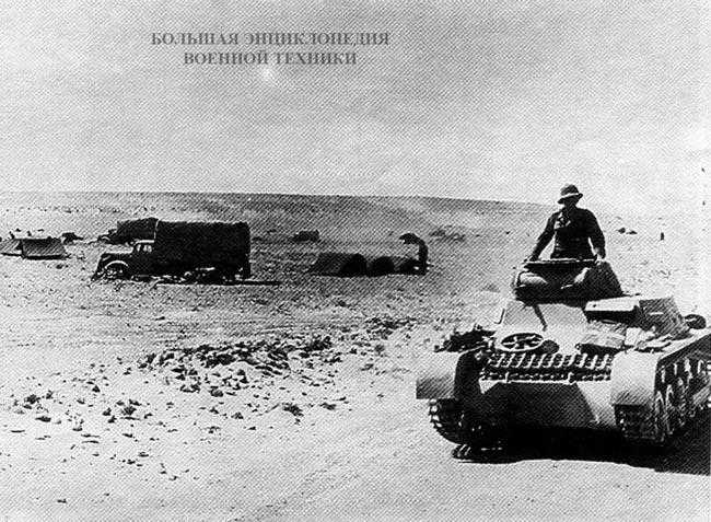 Pz.l Ausf.A под Эль-Агейлой. Северная Африка, 1941 год