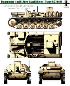 Общий вид САУ Sturmpanzer II