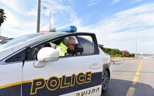 """במהלך פעילות אכיפה המשטרה פסלה 168 רישיונות נהיגה בסופ""""ש – 4,100 דו""""חות תנועה נרשמו"""