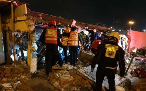 פצוע אנוש וקשה בפיצוץ מבנה באשדוד