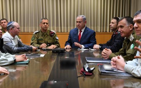 נתניהו קיים התייעצות ביטחונית בקריה בתל אביב – התקבלו החלטות