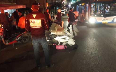 בן 20 התהפך עם אופנוע ברמת גן ונפצע באורח בינוני