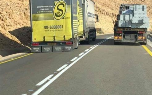 בעקבות פוסט שעלה בימים האחרונים ברשת: נעצר לחקירה נהג משאית שביצע לכאורה עבירה מסכנת חיים