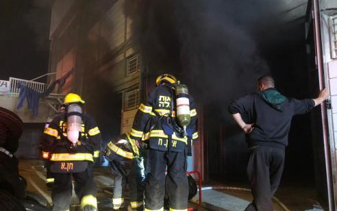 חמישה צוותי כיבוי פעלו בשריפת מבנה באילת – אין נפגעים