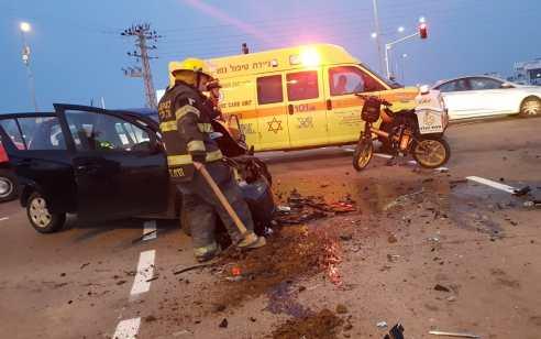 נהג רכב נפצע קשה לאחר שהתהפך הלילה בכביש 90 בין מושב פצאל למושב גלגל