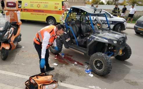 בת 15 נפגעה מרכב שטח בבאר שבע – מצבה בינוני