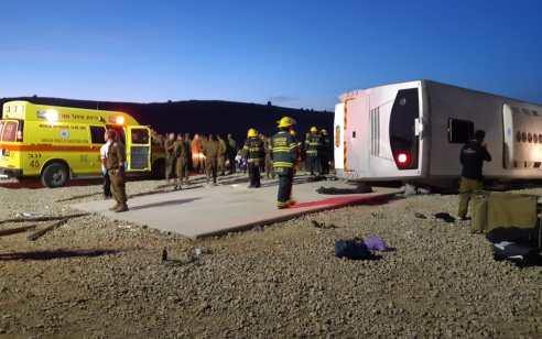 תאונת האוטובוס בגיבוש הצבאי בדרום: הנהג החשוד בגרימת מוות ברשלנות שוחרר למעצר בית