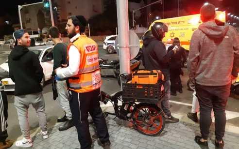 צעיר שרכב על אופנוע נפצע בינוני בתאונה באשדוד