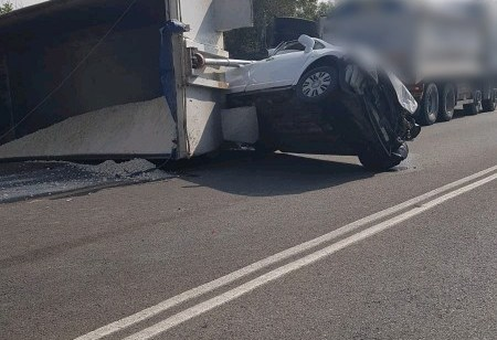 פצוע קשה ושלושה בינוני בתאונה בכביש 293 בסמוך לצומת מבועים
