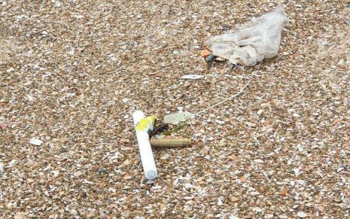 בלון אליו חובר חומר נפץ אותר ונוטרל בחוף הדרומי של אשקלון