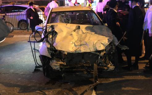 בבני ברק: נהג רכב כבן 50 התנגש בגדר ונפצע בינוני