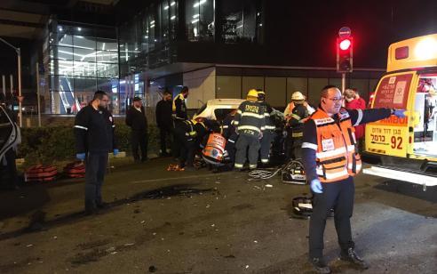 פצוע קשה בתאונת פגע וברח בטייבה