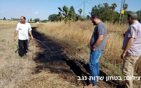 טרור הבלונים: 3 שריפות פרצו באיזור שדות נגב