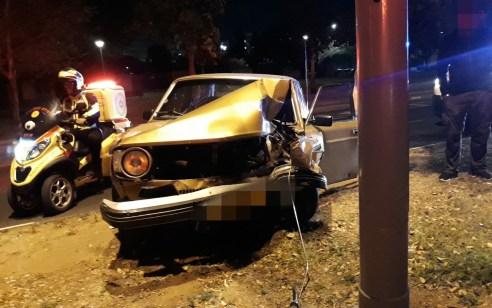 נהג רכב בן 60 נפצע בינוני בתאונה עצמית בתל אביב