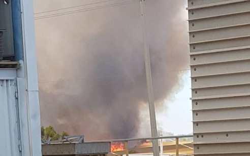 שריפה פרצה בתוך מבנה בישוב מבועים באשכול – נבדק חשד שנגרם מבלון