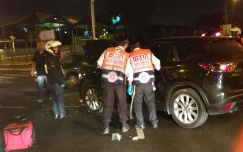 פצוע בינוני וארבעה קל בתאונה בכביש 40 בין סירקין לשעריה