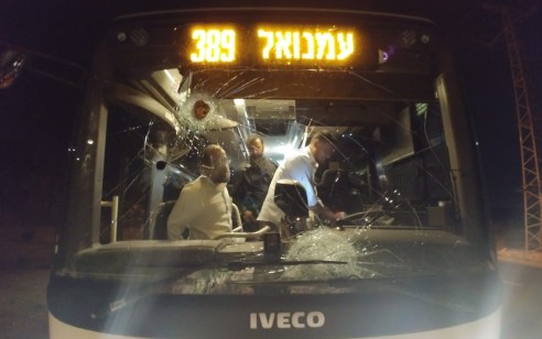 פיגוע אבנים: מספר פצועים בדיר איסתיא מאבנים שהושלכו בדרך לעמנואל – נזק נגרם לשמשות האוטובוס